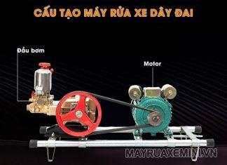 Máy rửa xe Đài Loan có cấu tạo đơn giản
