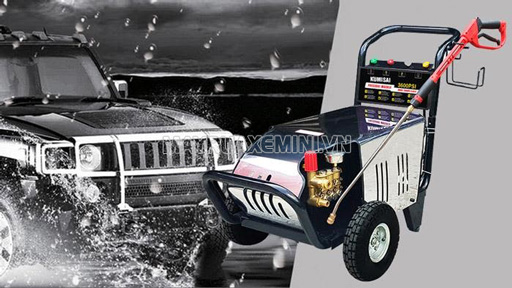 Lưu ý tới lưu lượng và áp lực phun của máy xịt rửa xe