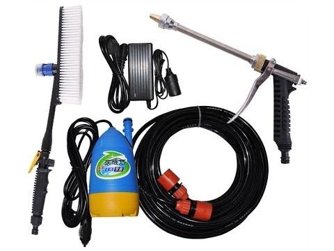 Máy xịt rửa xe mini 12V áp lực cao