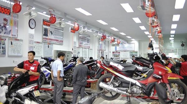 Cuối năm các dịch vụ tân trang xe máy