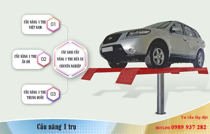 sử dụng cầu nâng ô tô 1 trụ