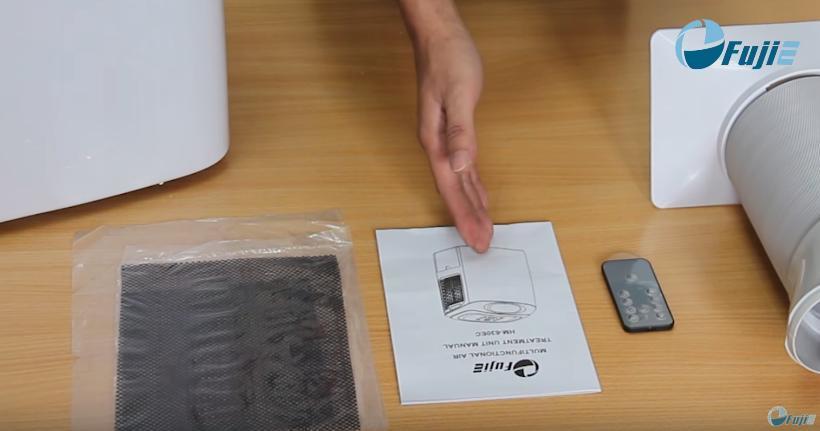 đọc sách hướng dẫn cách sử dụng máy hút ẩm fujie từ nhà sản xuất