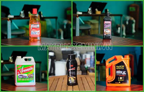 Một số loại dung dịch rửa xe được người dùng yêu thích