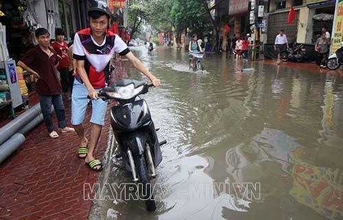 hiện tượng xe máy bị ngập nước