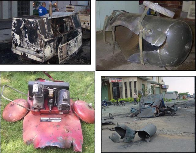 Nổ bình chứa khí - Sự cố nguy hiểm khi sử dụng thiết bị nén khí cũ kém chất lượng