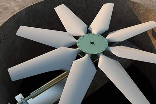 Điều chỉnh lại hệ thống cánh quạt bên trong tháp làm mát