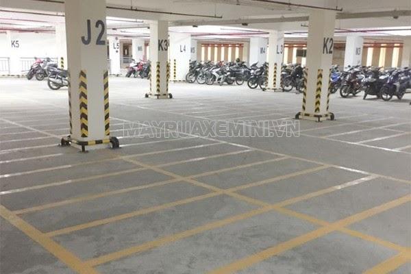 diện tích bãi đỗ xe máy