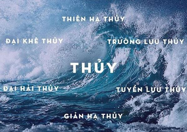 6 nạp âm trong mệnh Thủy