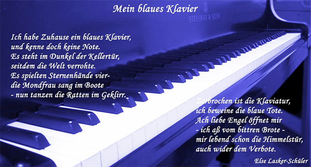 Mein blaues Klavier của Else Lasker-Schüler