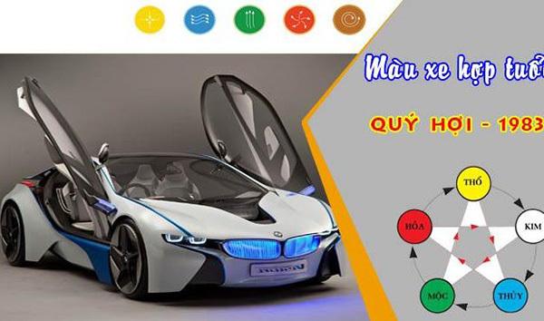 tuổi Quý Hợi hợp xe màu gì?