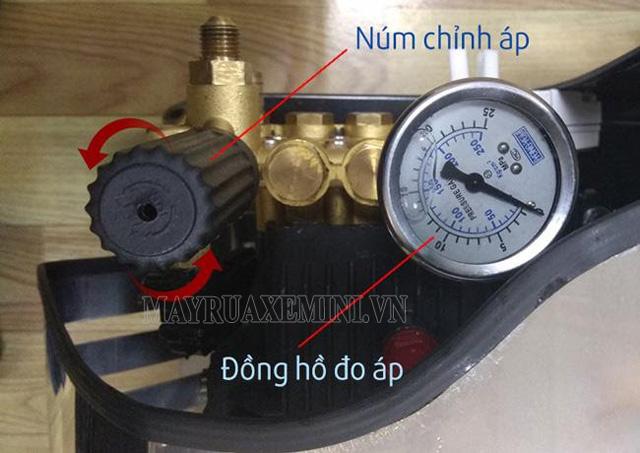 Cách điều chỉnh áp máy rửa xe