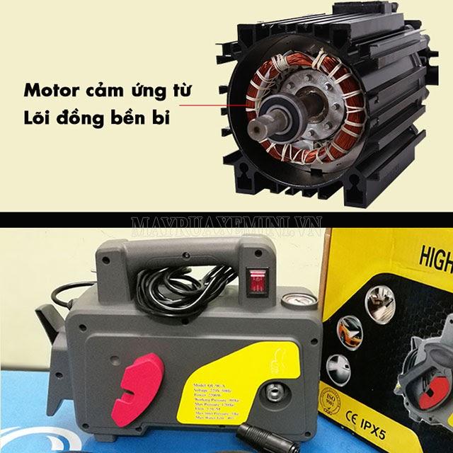 Máy rửa xe trang bị mô tơ từ có độ bền cao