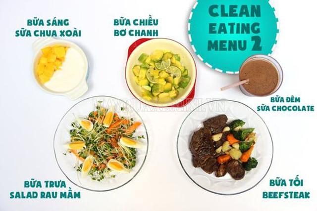 Thực đơn Eat Clean giảm cân cấp tốc